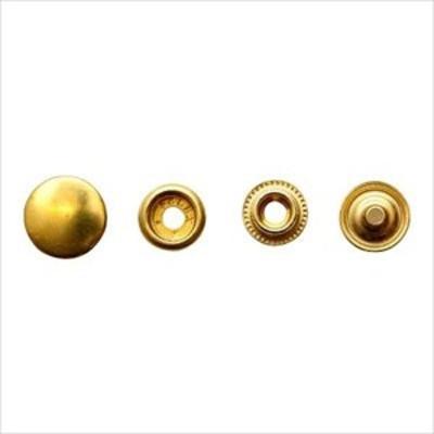 (送料無料)(レザークラフト 金具4) ブラスジャンパーボタン 小々 7201 ▼ 真鍮無垢素材の留め金具