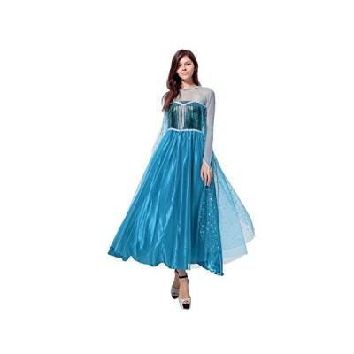 MAKE CHEERFUL エルサ コスプレ 衣装 ドレス 大人