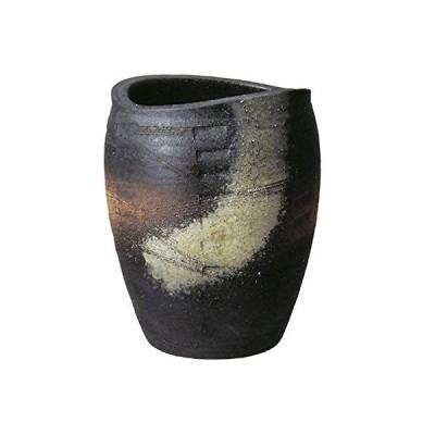 信楽焼 窯変たわみ傘立て しがらき焼 笠立て 陶器 おしゃれ kt-0014