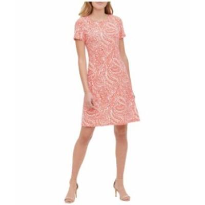 トミー ヒルフィガー レディース ワンピース トップス Atlas Shadow Short Sleeve Jersey Shirtdress Grenadine Multi