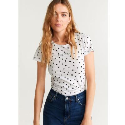 Tシャツ .-- MANGOPO-H (ホワイト)
