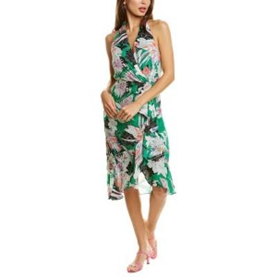 パーカー レディース ワンピース トップス Parker Addie Silk-Blend Midi Dress emerald hibiscus