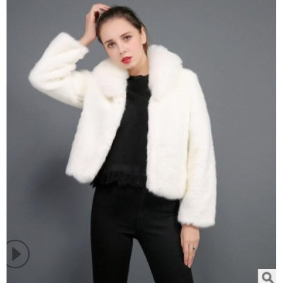 上質 ショートジャケット  おしゃれ 上着 ジャケット アウター 暖かい 冬物 レディース 防寒 毛皮コート 就活 女性 オフィス OL 通勤 フェイクファー