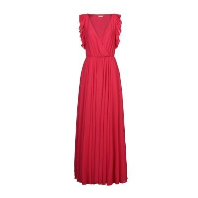 リュー ジョー LIU •JO ロングワンピース&ドレス レッド 38 ポリエステル 100% ロングワンピース&ドレス