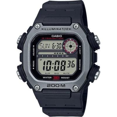 カシオ 腕時計 アクセサリー レディース Men's Digital Black Resin Strap Watch 50.4mm Black