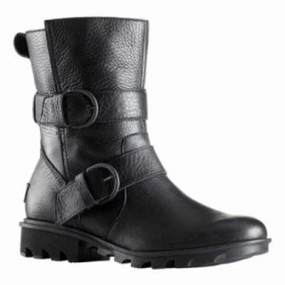 ソレル ブーツ Phoenix Moto Boot Black Waterproof Full Grain Leather