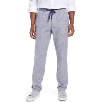 ノードストローム NORDSTROM メンズ ボトムス・パンツ Linen & Cotton Blend Drawstring Pants Blue Twilight/White
