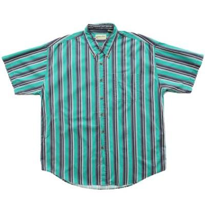 ST JOHN'S BAY ストライプ 半袖シャツ サイズ表記:XL