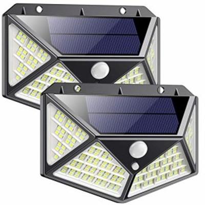 【新品】センサーライト 屋外 ソーラーライト 【2020最新改良版】 高輝度162LED 2個セット 4面発光 3つ点灯モード 人感センサーライト