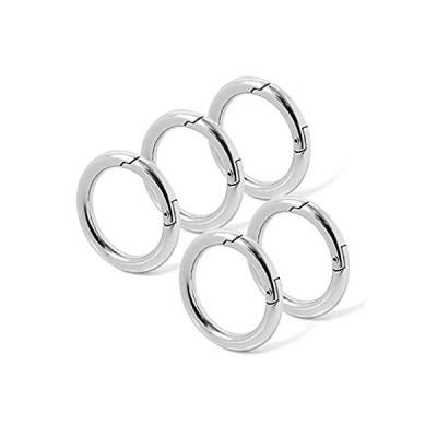 [SCIOLTO] カラビナ 丸型 [5個セット] キーリング キーホルダー ストラップ アウトドア スマートキーリング スプリングフック 小さい