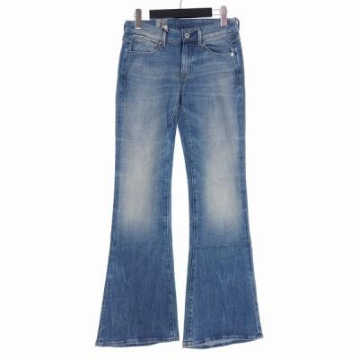 【中古】ジースターロウ G-Star RAW 3301 High Flare Jeans ハイウエスト フレアジーンズ デニムパンツ W25 L30 インディゴブルー 【ベクトル 古着】