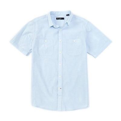 ダニエル クレミュ メンズ シャツ トップス Solid Nep Short-Sleeve Woven Shirt