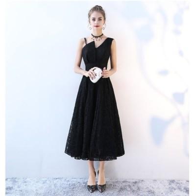 ワンピースレディースロングドレスマキシ丈レースノースリーブaライン大きいサイズ無地刺繍フレアセクシーカラードレス結婚式おしゃれフォーマル