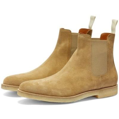 コモン プロジェクト Common Projects メンズ ブーツ チェルシーブーツ シューズ・靴 chelsea boot suede Tan