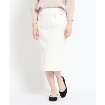 【デッサン】 コーデュロイタイトスカート レディース ホワイト 00(XS) Dessin