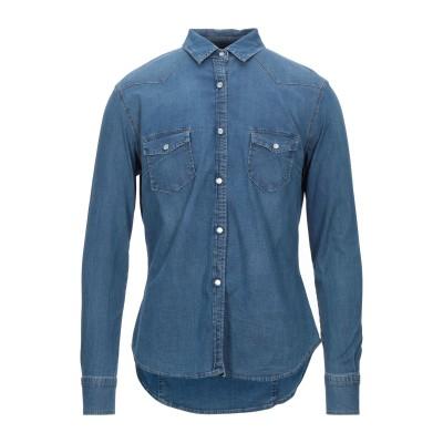 ロイ ロジャース ROŸ ROGER'S デニムシャツ ブルー 46 コットン 97% / ポリウレタン 3% デニムシャツ