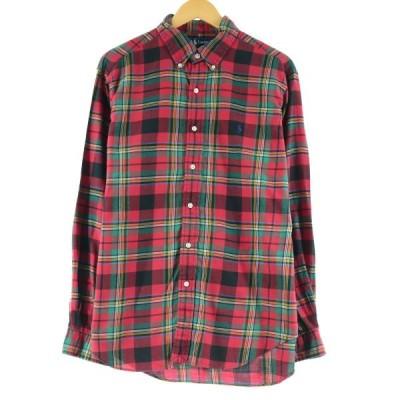 ラルフローレン Ralph Lauren CLASSIC FIT クラシックフィット 長袖 ボタンダウンチェックシャツ メンズL /eaa139701
