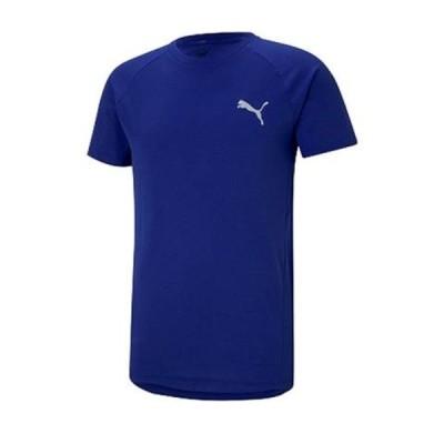 プーマ PUMA EVOSTRIPE Tシャツ 半袖Tシャツ 588909-12(エレクトロブルー)
