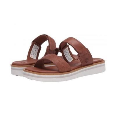 Timberland ティンバーランド レディース 女性用 シューズ 靴 サンダル Adley Shore 2-Band Slide - Medium Brown Full Grain Leather