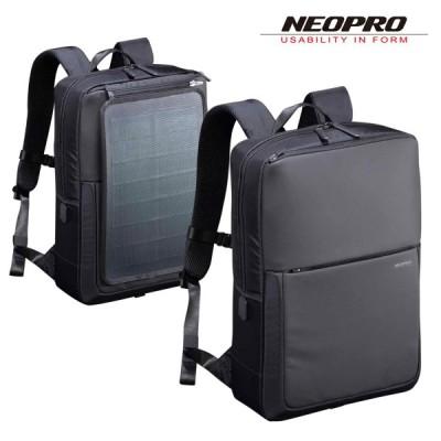 ネオプロ リュック 2WAY ソーラードライブ メンズ 2-861 NEOPRO ソーラーパネル搭載 ビジネスリュック リュックサック 撥水 USBポート搭載