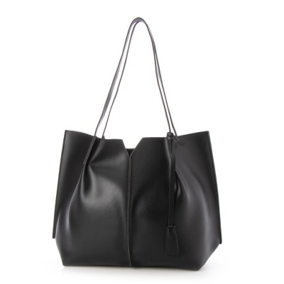 トミエコ Tomieco 新作 大きめサイズが使いやすい肩掛けトートバッグです。 (BLACK)