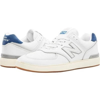 New Balance Numeric AM574 メンズ スニーカー 靴 シューズ White/Blue