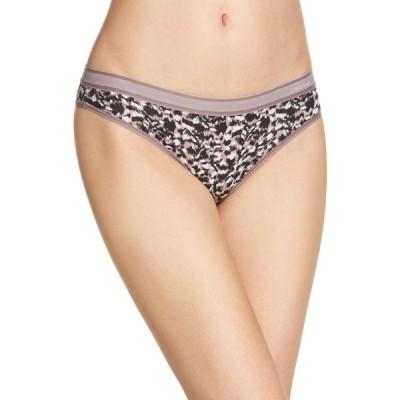 カルバンクライン CALVIN KLEIN レディース ショーツのみ インナー・下着 Second Skin Brazilian Panties Sprinting Cheetah Plum Dust