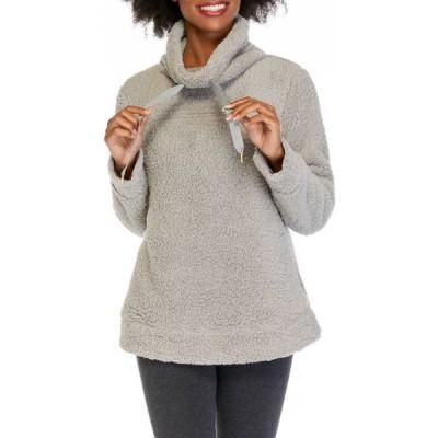 クラウン&アイビー レディース パーカー・スウェット アウター Women's Long Sleeve Cowl Neck Sweatshirt