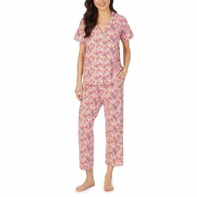 ベッドヘッドパジャマ ナイトウェア アンダーウェア レディース Short Sleeve Cropped Pajama Set Meadows