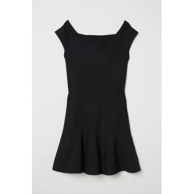 H&M - オフショルダーワンピース - ブラック