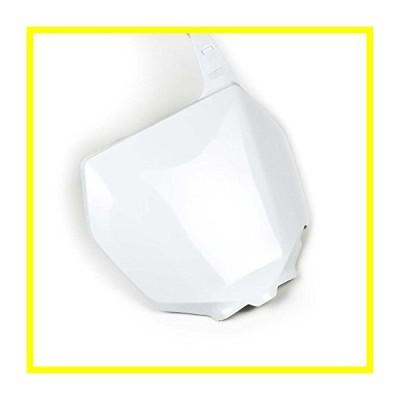 送料無料 Factory Effex (11-73422) ホワイト Plastic Front Number Plate 並行輸入品