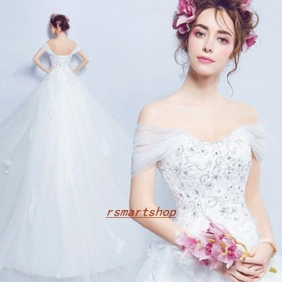 ウェディングドレスAラインエンパイアドレス二次会花嫁Aライン編み上げタイプオフショルダーウエディングドレス二次会ミニドレス