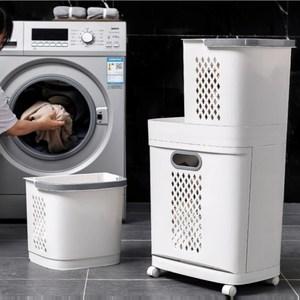 【AOTTO】韓風多功能三層組合式帶輪髒衣籃 洗衣籃髒