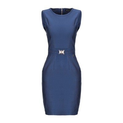 MANGANO ミニワンピース&ドレス ブルー L ポリエステル 90% / ポリウレタン 10% ミニワンピース&ドレス