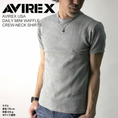 AVIREX/アビレックス/avirex/アヴィレックス・ミニワッフル クルーネック Tシャツ カットソー Tシャツ