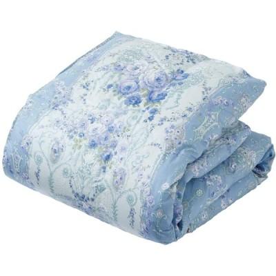 西川 リビング 羽毛 肌掛け布団 ダウンケット シングル 日本製 洗える ホワイトダックダウン90% ふんわり ブルー 144457116