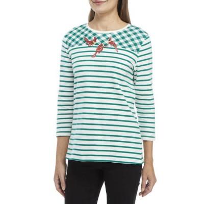 キム ロジャース レディース Tシャツ トップス Women's Printed Crew Neck Graphic T-Shirt