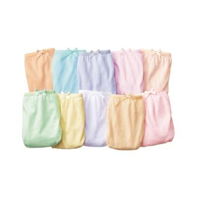 綿100%カラー天竺レギュラーショーツ10枚組(3L) スタンダードショーツ, Panties