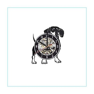 新品Dachshund Dog Wall Clock, Dachshund Dog Art, Pet Home Decor, Dachshund Dog Wall Decor, Dog Vinyl Clock, Dog lp Clock, Dachshund Dog Gi