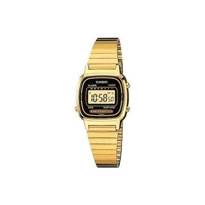 腕時計 カシオ Casio レディース デジタル ゴールド 腕時計 クロノグラフ. アラーム  LA670WGA-1