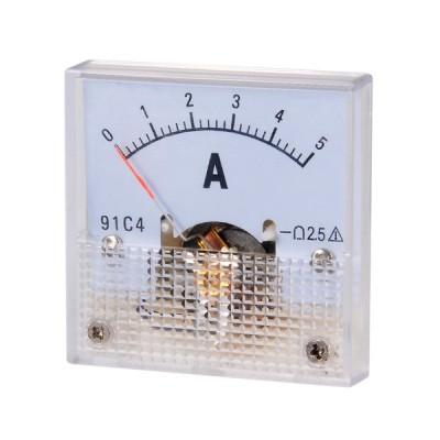 uxcell DC電流パネルメーター アナログ電流計 DC5A 91C4-A 電子回路 調整可能 テスト