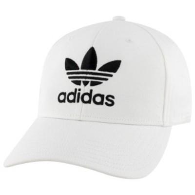 アディダス メンズ 帽子 アクセサリー adidas Originals Icon Precurve Snapback White/Black