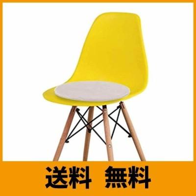 チェアパッド 丸 モフモフ感 35x35 イームズ チェアパッド ダイニング チェアパッド 滑り止め付き ラウンド座面クッション 食卓のベンチ/畳/椅