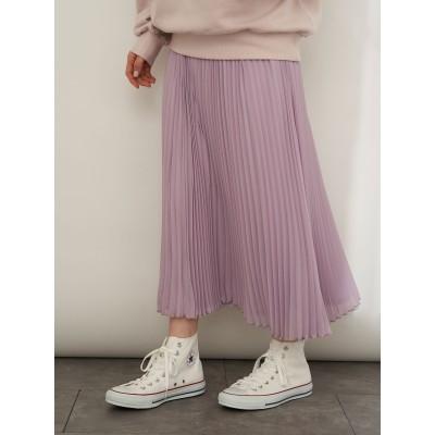 花言葉のあるすきな丈プリーツスカート(ミモレ)
