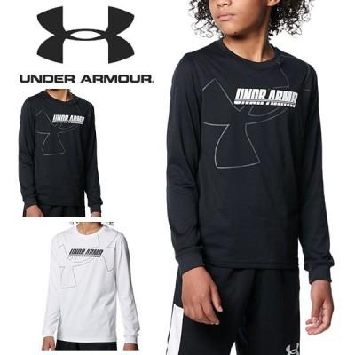 長袖 Tシャツ アンダーアーマー UNDER ARMOUR UA キッズ ジュニア 子供 シャツ ロンT バスケットボール バスケ ミニバス 1368975 2021秋冬新作