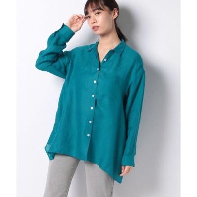 Leilian / ロングりスリーブ麻シャツ