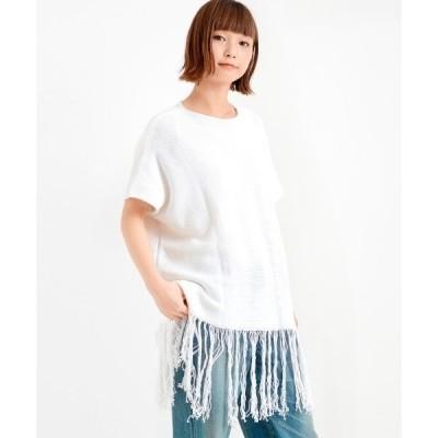 tシャツ Tシャツ BELLISSIMA フリンジP/O