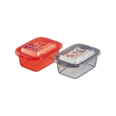 エアー弁付ふわっと保存容器(M) 2個入 ミッキーマウス