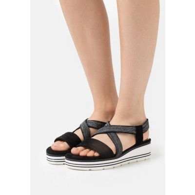 マルコトッツイ レディース サンダル Platform sandals - black
