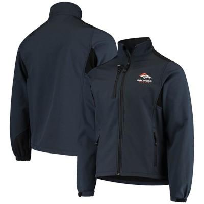 デンバー・ブロンコス Softshell Fleece Full-Zip ジャケット - Navy